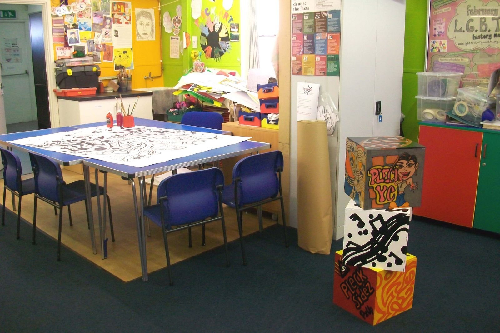 Images Inside a Youth Center