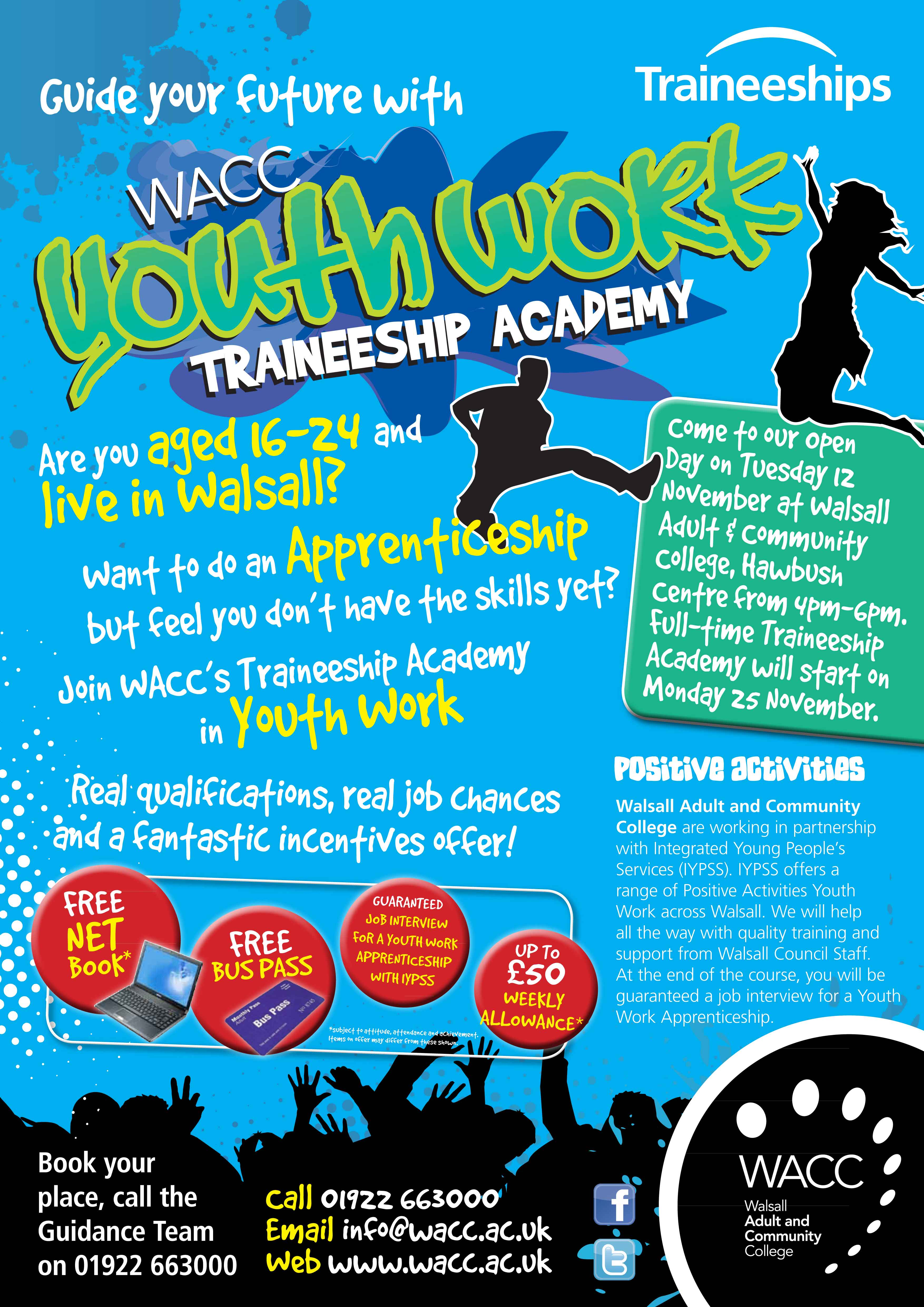 Guide your future with WACC youth work traineeship acedeny