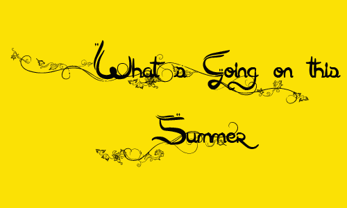 What's going on this summer